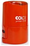 Оснастка для печати круглой, автоматическая пластмассовая D 40мм, с защитной крышкой (оранжевый, белый)