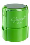 Оснастка для печати круглой, автоматическая пластмассовая D 42мм, с защитной крышкой (черный, серый, коричневый, бордовый, синий, зеленый, оранжевый)