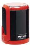 Оснастка для печати круглой, автоматическая пластмассовая D 42мм, с защитной крышкой (красный, зелёный, голубой)