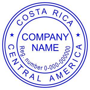 Печать иностранного государства Коста-Рика