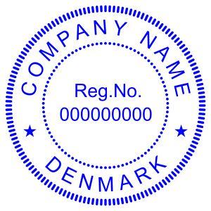 Печать иностранного государства Дания