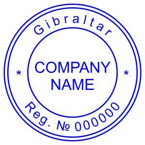 Печать иностранного государства Гибралтар