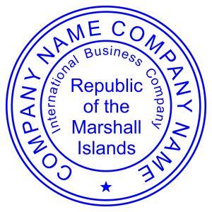 Печать иностранного государства Маршалловы Острова