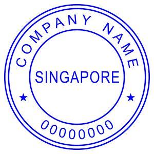 Печать иностранного государства Сингапур