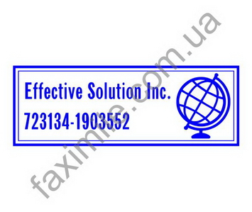 Пример прямоугольного штампа. Приклад прямокутного штампа.